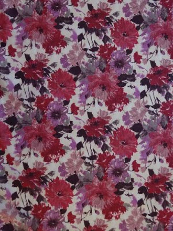 chrysanthemen auf voile zarte baumwolle purpur mauvelila. Black Bedroom Furniture Sets. Home Design Ideas
