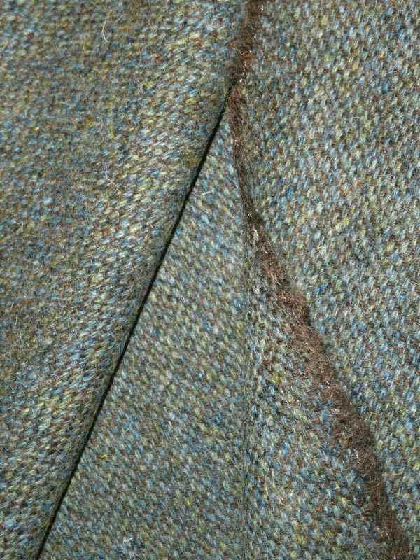 harris tweed stoff taubenblau meliert florence naturstoffe. Black Bedroom Furniture Sets. Home Design Ideas