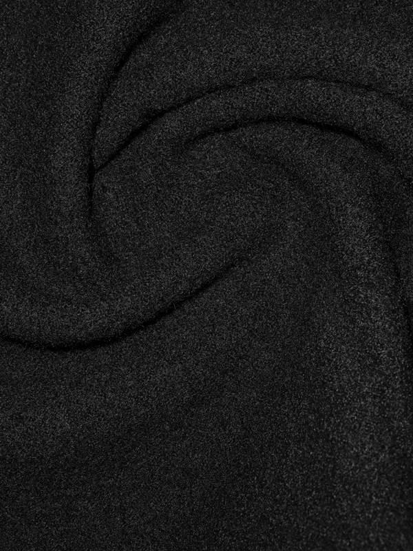 italienischer strickwalk stoff in schwarz florence naturstoffe. Black Bedroom Furniture Sets. Home Design Ideas