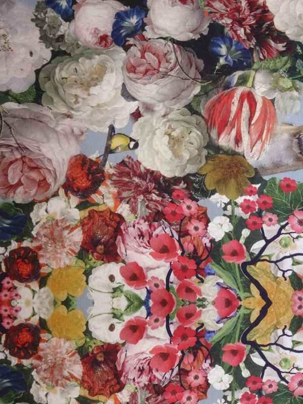baumwolle stretch jersey blumenmuster florence naturstoffe. Black Bedroom Furniture Sets. Home Design Ideas