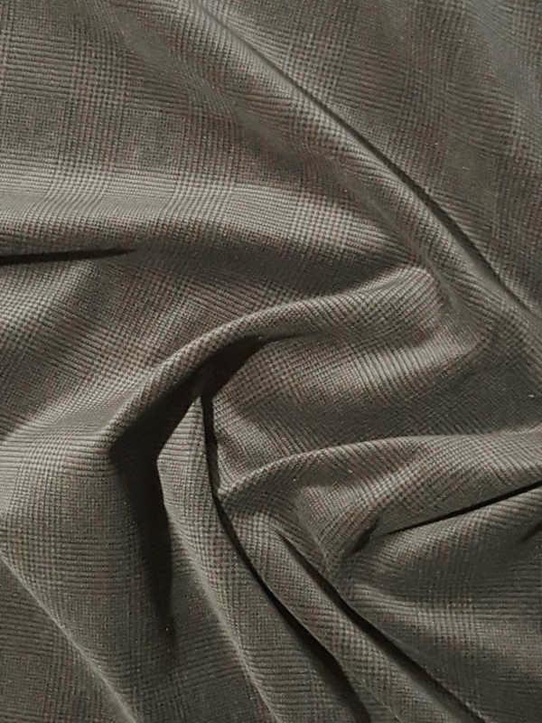 baumwollsamt glencheck karo muster florence naturstoffe. Black Bedroom Furniture Sets. Home Design Ideas