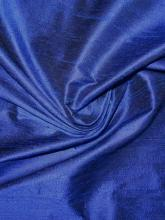 Dupionseide Royal Midnight Blau, royalblaue Seide schwarz changierend