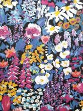 Painters Meadow A, vivid blue, Liberty London Baumwollprint auf Tana Lawn Batist