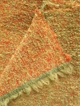 Boucle ziegelrot-citronelle Multicolour Schurwoll-Tweed Stoff