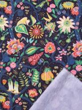 Liberty Fleece Tree of Eden Baumwollfleece Sweatstoff geraute Innenseite