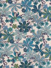 Liberty London Fabric Tumbling Vine Blau Tana Lawn Baumwollbatist